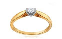 Zásnubný prsteň s diamantom 0,080 ct Semires KU294