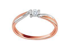 Zásnubný prsteň s diamantom 0,080 ct Sheila 2 KU0003R