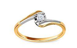 Zásnubný prsteň s diamantom 0,080 ct Sheila 8 KU174