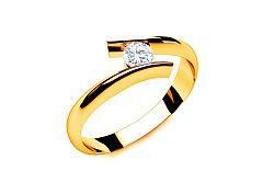 Zásnubný prsteň s diamantom 0,090 Lines Of Love 5 Yellow LRBR024Y