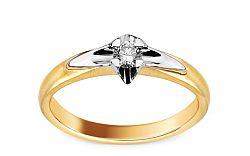 Zásnubný prsteň s diamantom 0,100 ct Always BSBR012