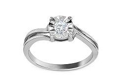 Zásnubný prsteň s diamantom 0,135 ct Mariya 6 white KU0009A