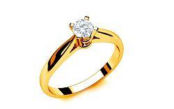 Zásnubný prsteň s diamantom 0,150 ct Royal Heart 3 Yellow LRBR013Y