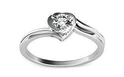 Zásnubný prsteň s diamantom 0,160 ct Etos 1 White KU184A