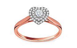 Zásnubný prsteň s diamantom 0,220 ct Glossy Heart KU231