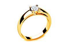 Zásnubný prsteň s diamantom 0,230 ct Royal Heart 1 Yellow LRBR004Y