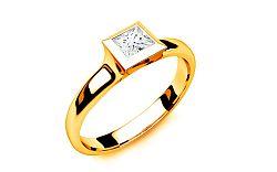 Zásnubný prsteň s diamantom 0,260 ct Power Of Love 7 Yellow LRBR008Y
