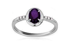 Zásnubný prsteň s iolitom Lealia IZ6211