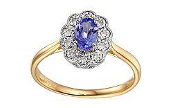 Zásnubný prsteň s tanzanitom a diamantmi Tallis IZBR308