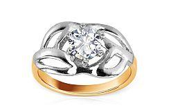 Zásnubný prsteň so zirkónom kombinovaný KORI057-M