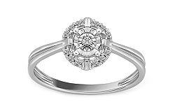 Zásnubný prsteň z bieleho zlata s diamantmi Destinee KU543A