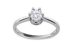 Zásnubný prsteň z bieleho zlata s diamantom Bianca KU540A