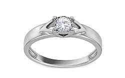 Zásnubný prsteň z bieleho zlata s diamantom Carina KU541A
