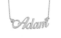 Zlatá biela retiazka s menom Adam IZ9076A