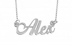 Zlatá biela retiazka s menom Alex IZ9077A