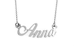 Zlatá biela retiazka s menom Anna IZ7566A