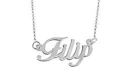 Zlatá biela retiazka s menom Filip IZ9071A