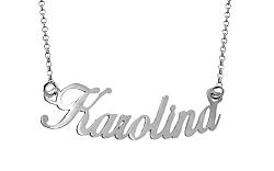 Zlatá biela retiazka s menom Karolina IZ8080A