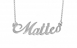 Zlatá biela retiazka s menom Matteo IZ9072A