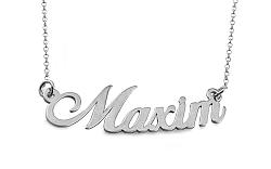 Zlatá biela retiazka s menom Maxim IZ9090A