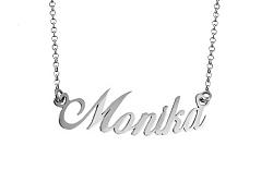 Zlatá biela retiazka s menom Monika IZ7579A