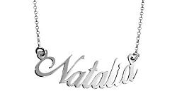 Zlatá biela retiazka s menom Natalia IZ7886A