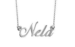 Zlatá biela retiazka s menom Nela IZ7887A