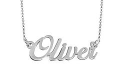 Zlatá biela retiazka s menom Oliver IZ9074A