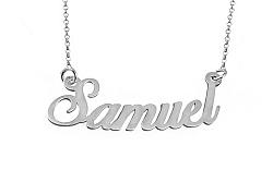Zlatá biela retiazka s menom Samuel IZ9075A