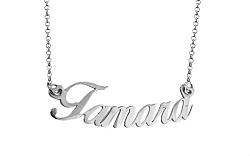Zlatá biela retiazka s menom Tamara IZ7890A