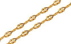 Zlatá dámska retiazka 2 mm IZ9689