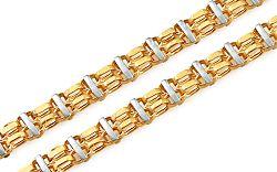 Zlatá dvojfarebná retiazka 4,5 mm IZ10269