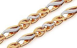 Zlatá dvojfarebná retiazka Adriane IZ11432