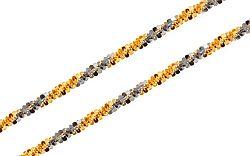Zlatá dvojfarebná retiazka Beads 1 mm IZ9369
