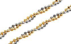 Zlatá kombinovaná retiazka Beads 2 mm IZ10249