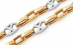 Zlatá kombinovaná retiazka Jasper 5 mm IZ11427