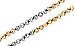 Zlatá kombinovaná retiazka Rolo 1,3 mm IZ10243