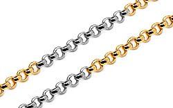 Zlatá kombinovaná retiazka Rolo 1,5 mm IZ10248