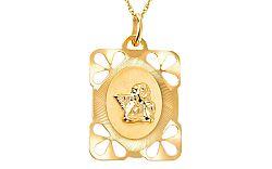 Zlatá platnička s anjelikom IZ6607