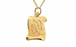 Zlatá platnička so znamením Ryby IZ10973