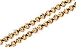 Zlatá plná retiazka Rolo 2 mm IZ4810