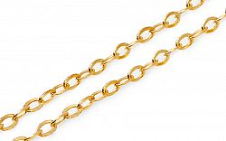 Zlatá plná retiazka Rolo 2 mm IZ4902