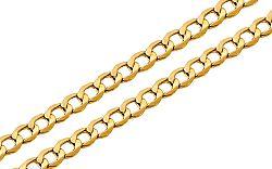 Zlatá retiazka Pancier 2 mm IZ9266