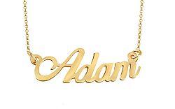 Zlatá retiazka s menom Adam IZ9076