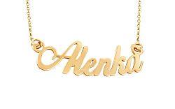 Zlatá retiazka s menom Alenka IZ9899