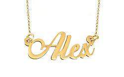 Zlatá retiazka s menom Alex IZ9077