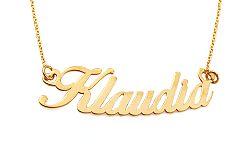 Zlatá retiazka s menom Klaudia IZ10962