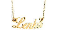 Zlatá retiazka s menom Lenka IZ7573