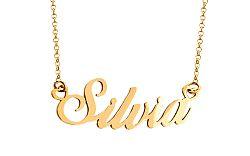 Zlatá retiazka s menom Silvia IZ7583