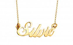 Zlatá retiazka s menom Silvie IZ8180